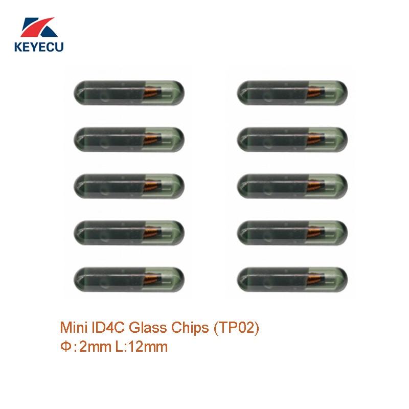 KEYECU 10 шт. OEM Mini ID4C стеклянные чипы (меньший размер) (TP02) Диаметр 2 мм/л 12 мм