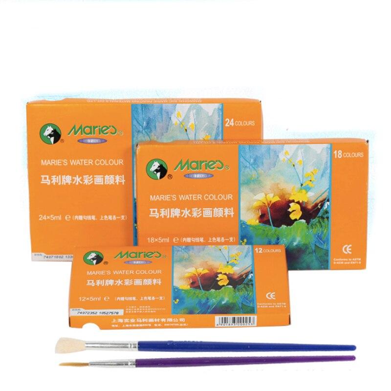 Acuarela pintura conjunto de alta calidad transparente 5ML pigmento de acuarela para estudiante de escuela de artistas