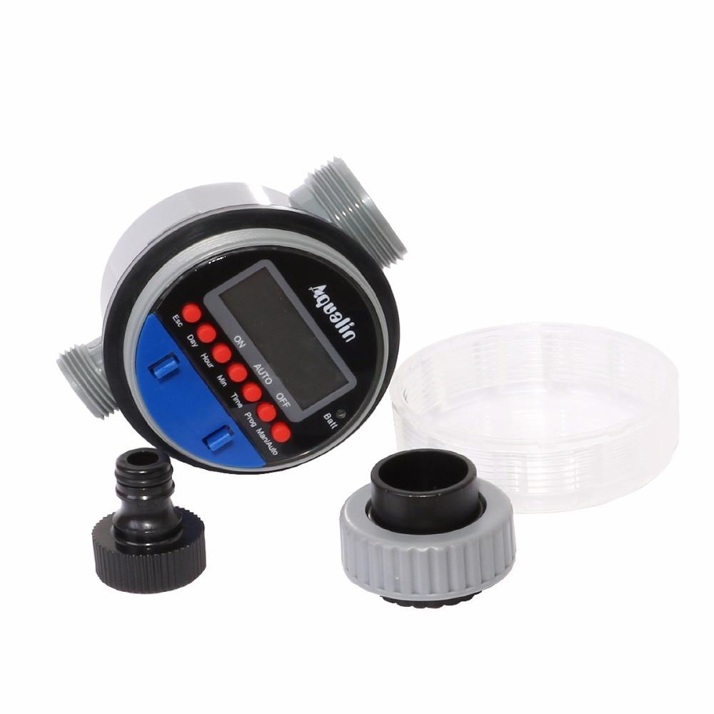 Pemasa penyiraman automatik dengan paparan LCD pemasa air injap bola - Peralatan berkebun - Foto 3