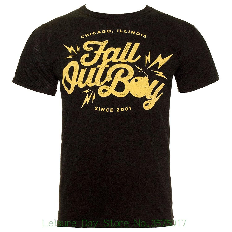 T Shits Printing Short Sleeve Casual O-neck Cotton Fall Out Boy Men Bomb T Shirt