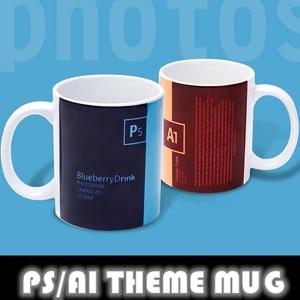 Anime JK Unique Job Mark Cup Funny Photoshop Advertising Design Software PS AI Theme Ceramic Mug Tea Milk Coffee