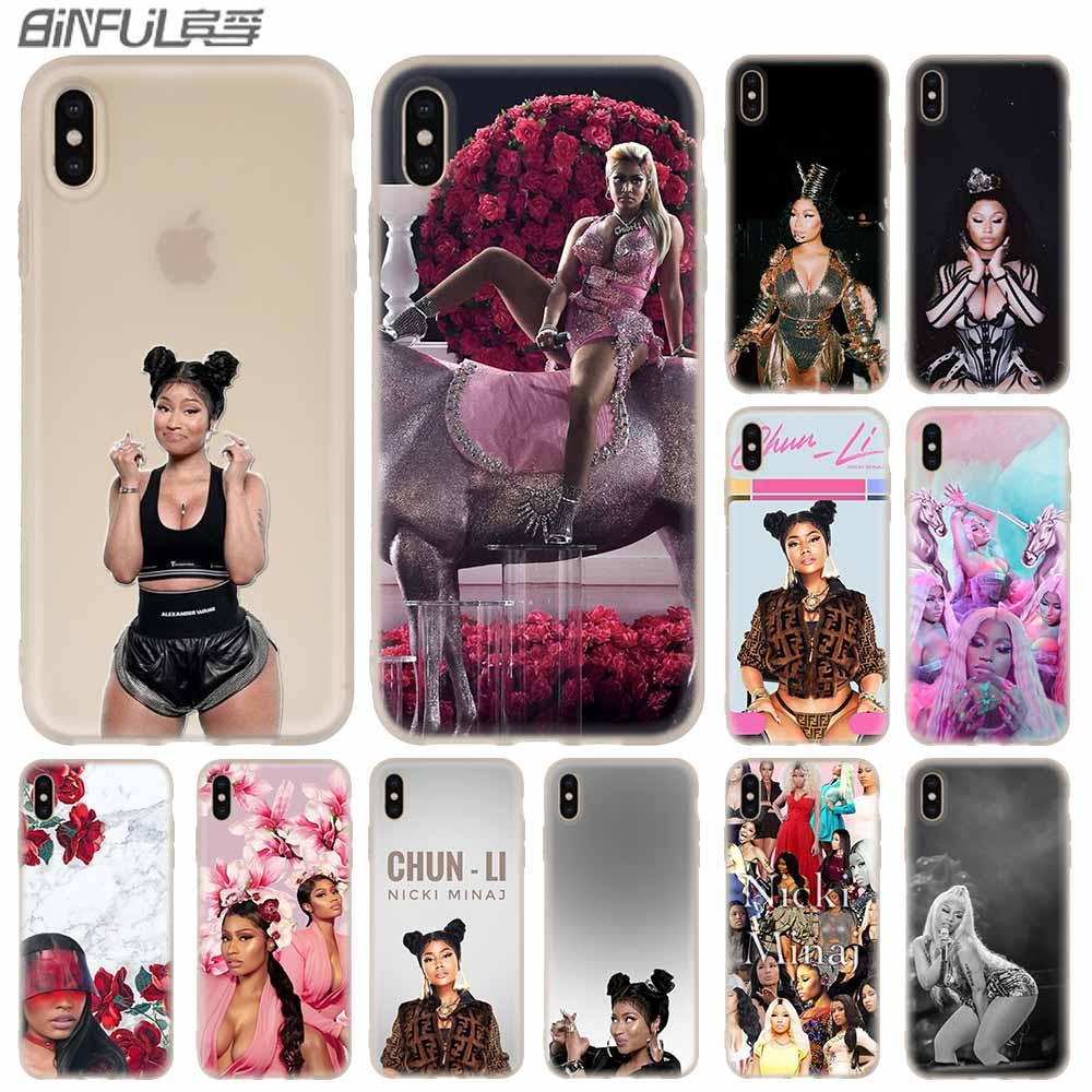 Nicki Minaj Cover Case Silicone soft for iPhone X 11 Pro XS Max XR 6 7 8 Plus 5 4 S Phone Cases TeleFoonhoesjes Etui