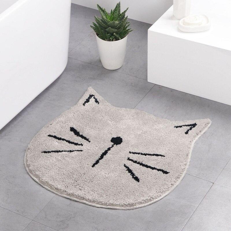 De moda Kawaii gato Bienvenido alfombras de piso de dibujos animados Anti-Slip tapete para puerta de baño alfombra de piso lindo alfombrilla para niños hogar Decoración de la habitación