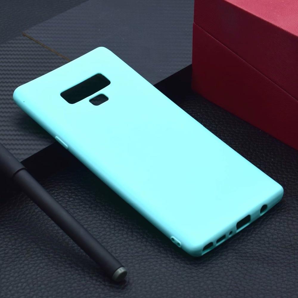Para Samsung Galaxy Nota 9 ultrafina suave de TPU mate funda para Samsung Galaxy Nota 9 SM-N960 SM-N9608 SM-N9600 SM-N960U
