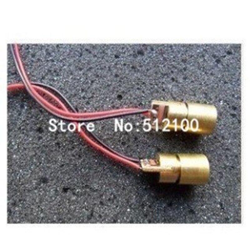 Cabeça laser 50 peças, 5mw 5v cabeça laser ponto de diodo tubo de cobre semicondutor laser 6mm diâmetro exterior comprimento de onda 650nm