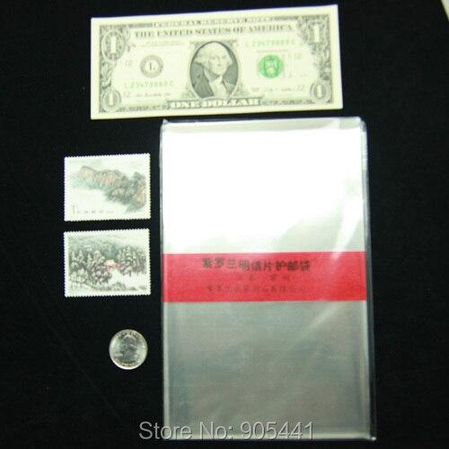 Fundas para tarjetas postales de papel y dinero de gran tamaño de 100 Uds. 19CM x 13,2 CM con soporte de gran calidad envío gratis