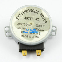 Moteur synchrone pour micro-ondes   Table tournante, 49TYZ-A2 220 V 240V, 5/6R/Min, 4W CW/CCW 5 pièces