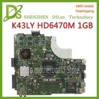 KEFU K43LY HD6470M 1GB Mainboard For ASUS K43LY X84HR K84HR Laptop Moth Laptop Motherboard REV2.1/3.0 original work Motherboard