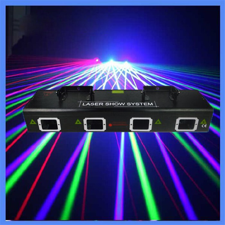 Four Lens Strong RGBY Laser Show System Stage Disco Party christmas decoration Laser lights DMX DJ e
