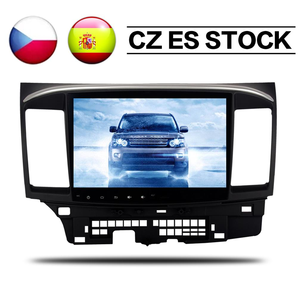 Reproductor de DVD para coche Android 9,0, 4 + 32G, unidad de navegación GPS para Mitsubishi Lancer X Galant Fortis 2007 08-2017 EVO 10