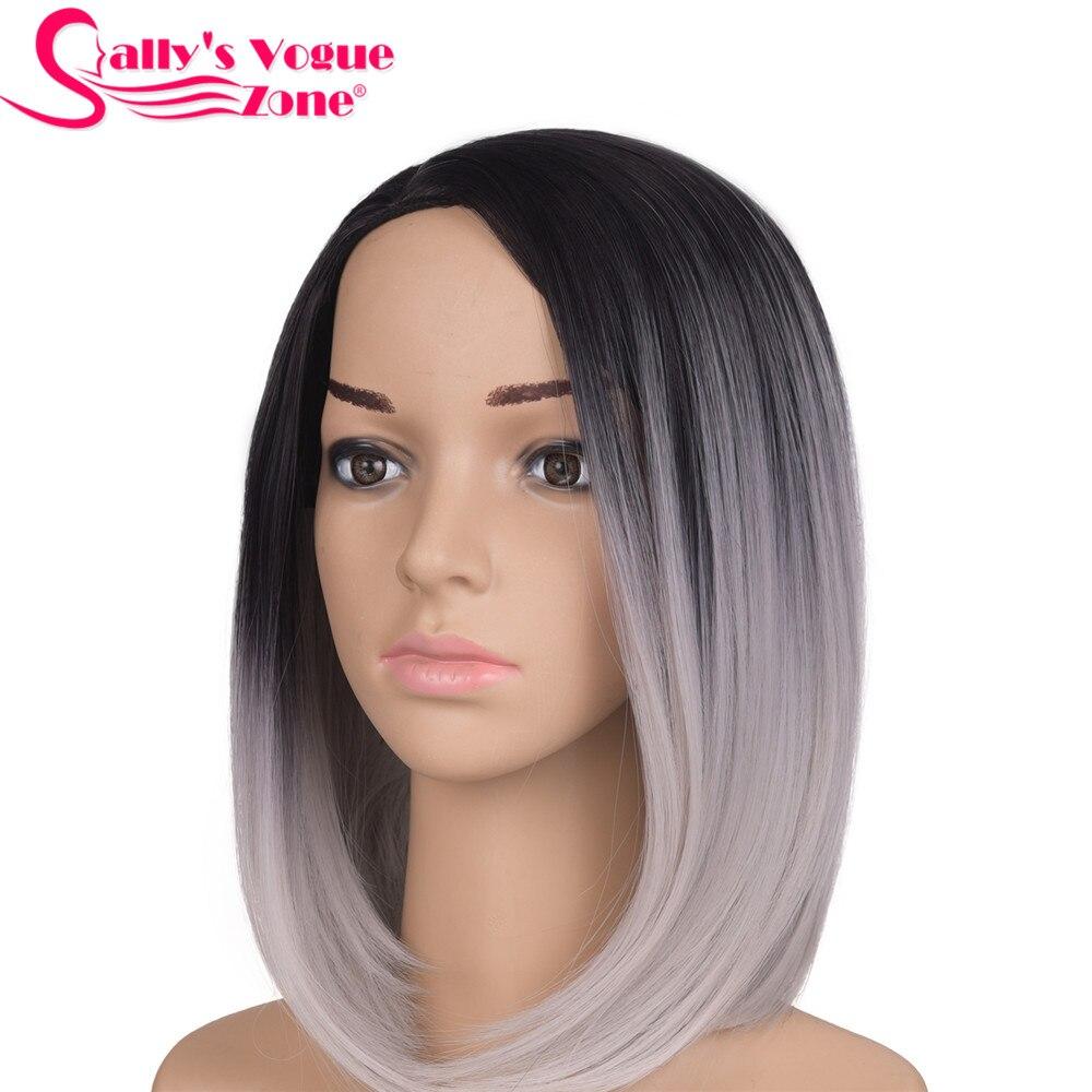 Perucas de cabelo curto ombre preto preto cor cinza americano africano bob perucas para preto