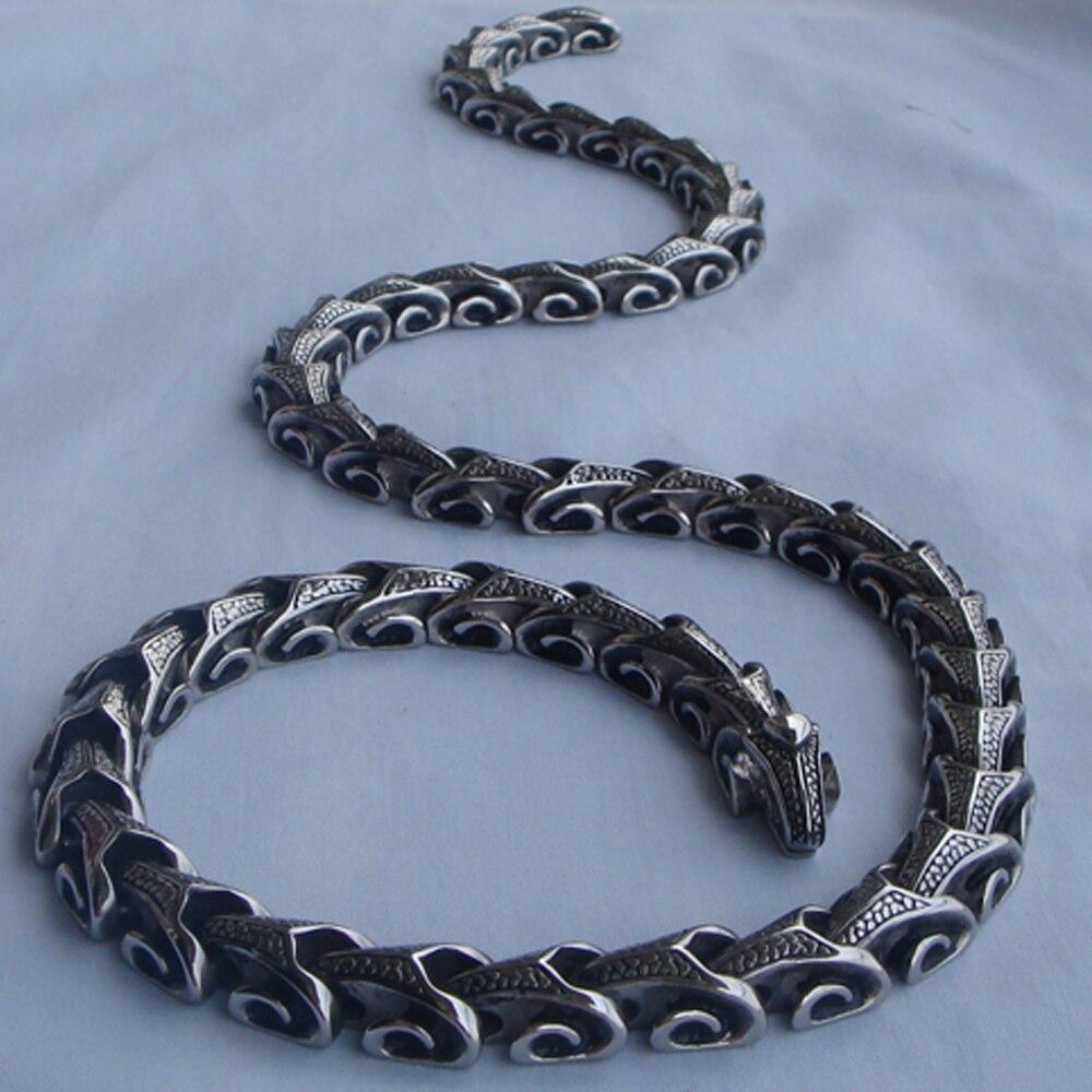 16-40 ''vary length dragon link hombres/boy jewelry punk 316L Acero inoxidable 2 tipos de desgaste cadena collares o pulsera 1 ud.