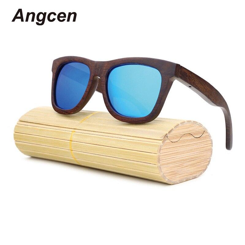 Angcen 2018 nuevo 100% gafas de sol polarizadas de madera de bambú para mujer de marca de diseñador gafas deportivas gafas de sol