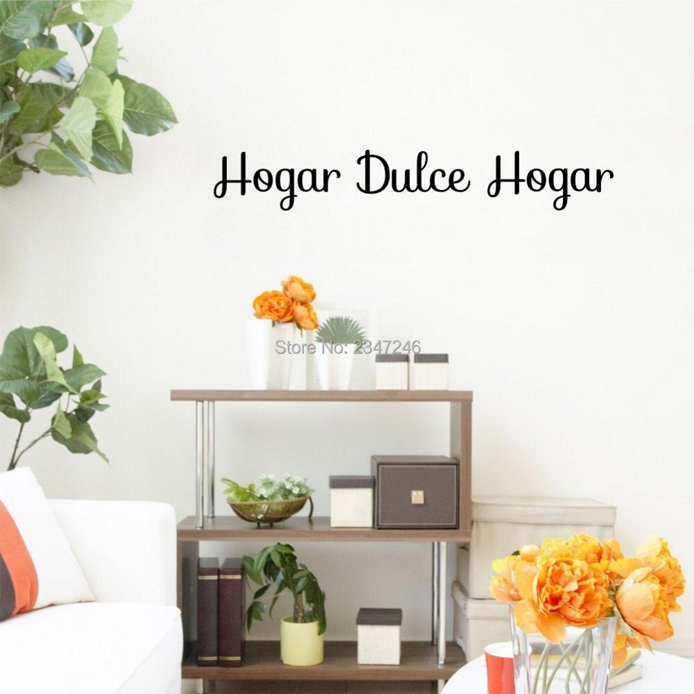 Pegatinas de vinilo para pared con frases de Sweet Home, pegatinas de vinilo para decoración de habitación