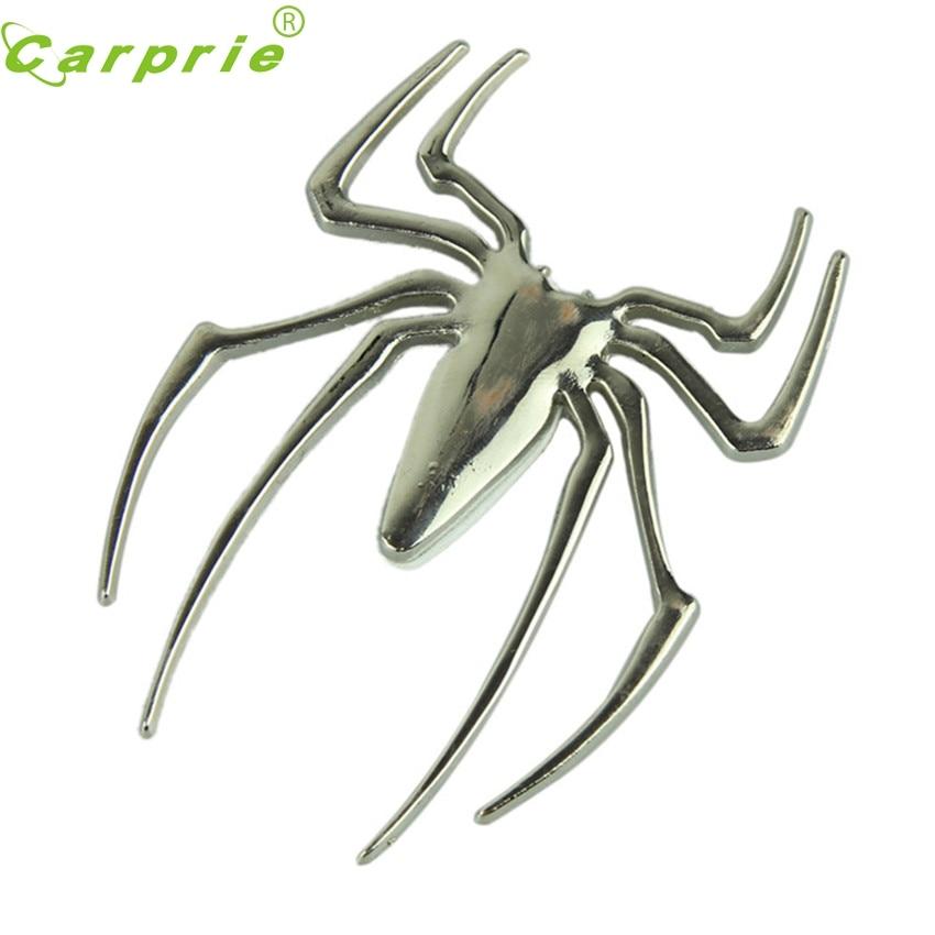 CARPRIE Super drop ship 3D pegatina de araña cromada emblema de logo de insignia pegatina de motocicleta coche camión marca Trim Apr 23