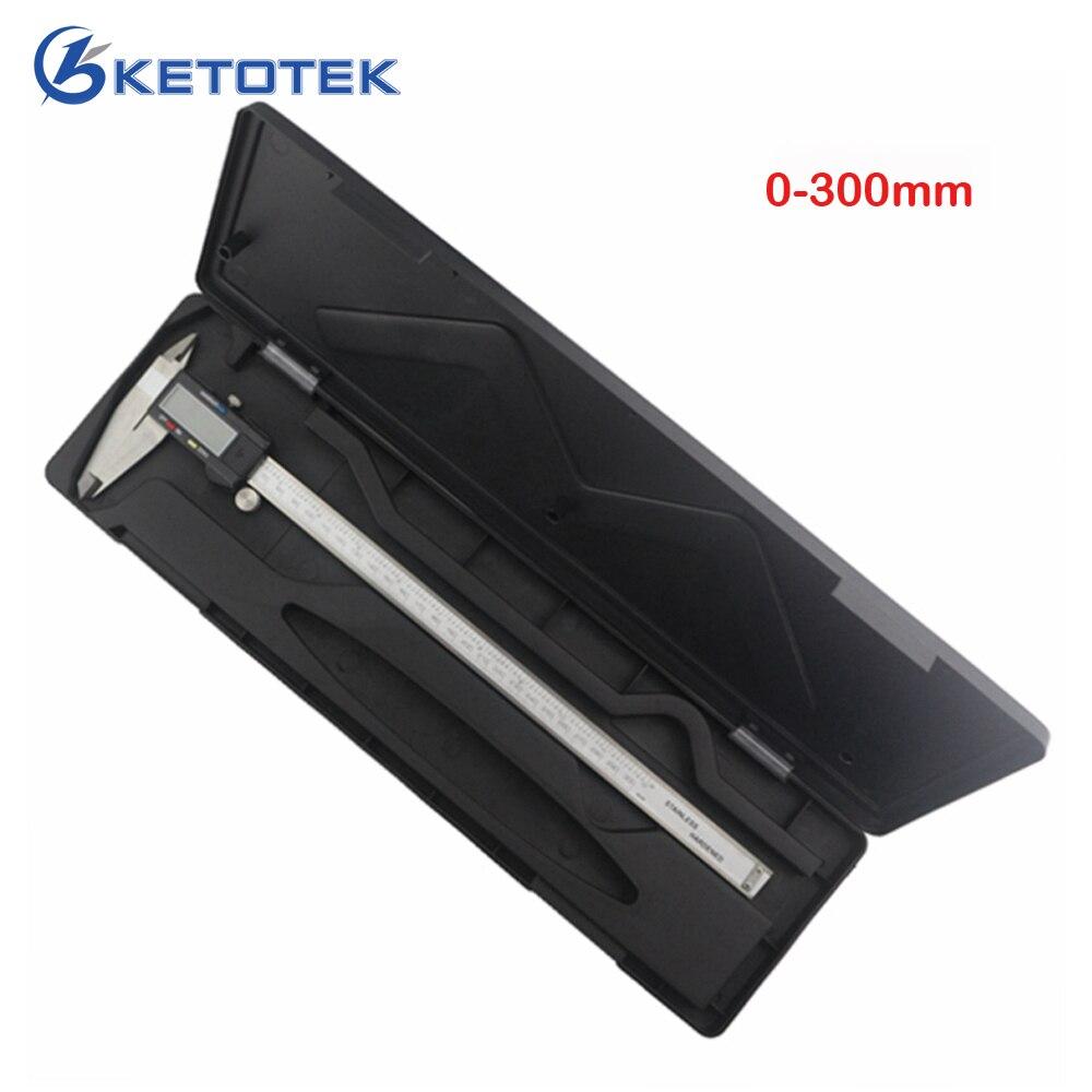 Цифровой штангенциркуль 0-300 мм 12 дюймов 0,01 мм, измеритель/дюйм, Электронный штангенциркуль из нержавеющей стали, измерительный инструмент, ...