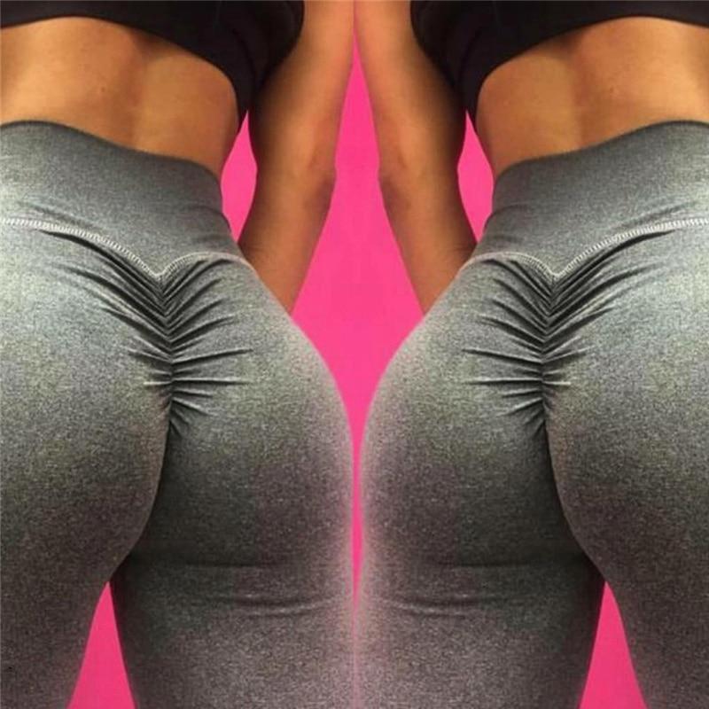 New Women Yoga Pants High Elastic Scrunch Booty Fitness Yoga Leggings Slim Tights High Waist Training Trousers Jogging Pants