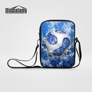 Dispalang Small Messenger Bags For Men Women Cross Body Bags Ball Printing Kids Shoulder Bags Children Mini School Bags