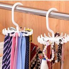 360 Degree Top Quality Wholesale Storage Holders Rotating Tie Rack Adjustable Tie Hanger Holds 20 Neck Ties Tie Organizer White