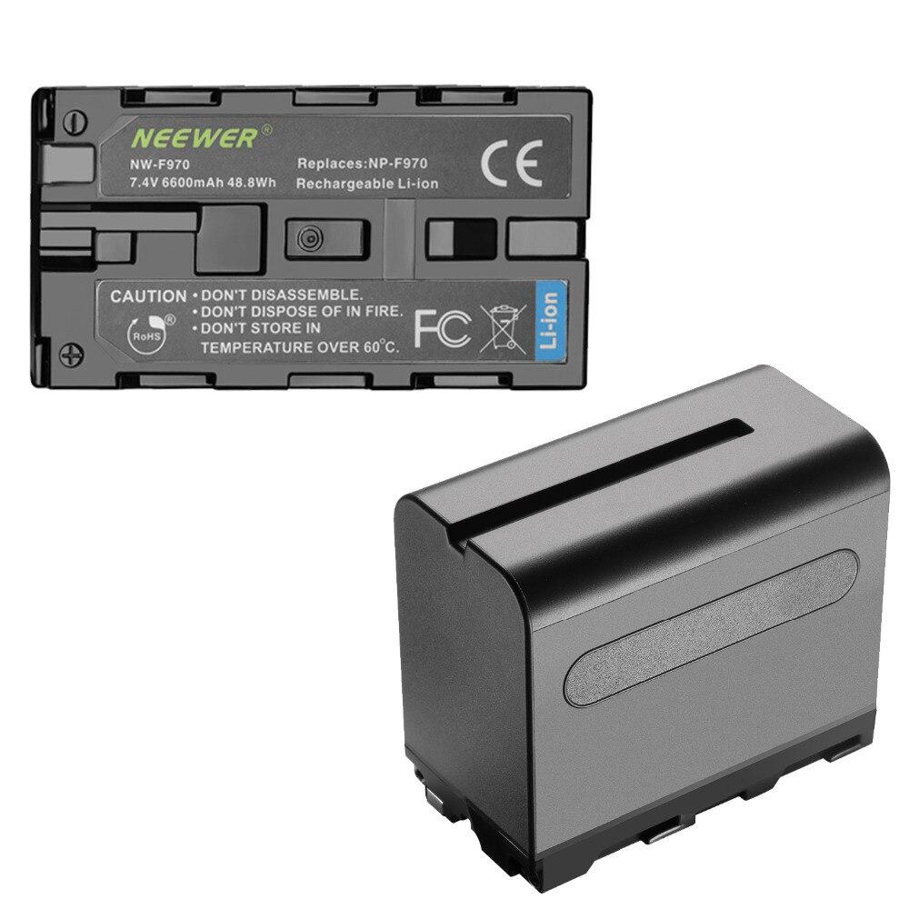 Neewer 2-حزمة 6600mAh ليثيوم أيون استبدال البطارية مع USB شاحن لسوني NP-F550 570 750 770 970 960 975 ، سوني Handycams