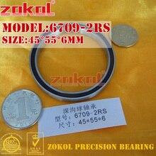 ZOKOL تحمل 6709 2RS 1000709 كرة أخدود عميقة تحمل 45*55*6 مللي متر