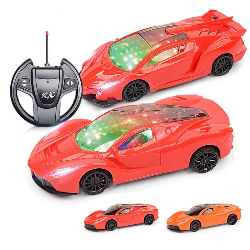 4 canaux 22 cm RC voiture jouet lumière LED Robot électrique sport voiture modèles jouets cadeaux danniversaire pour garçons AAA batterie