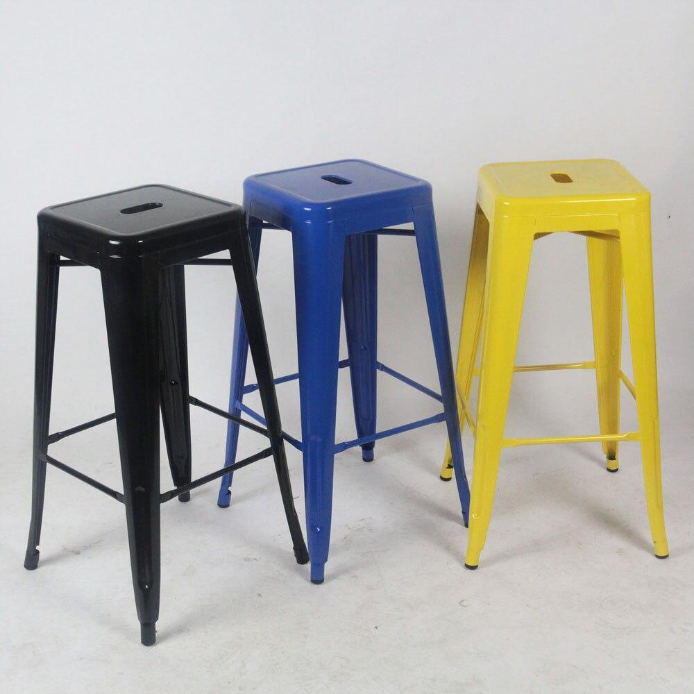 Фото - Качественный Металлический барный стул высокий стул барный стул передний стол барный стул [магазин сша] кованый железный стеклянный высокий барный стол патио барный стол черный