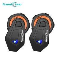 2 PCS FreedConn T-Max Motorcycle Talk System 1000M 6 riders groups BT Interphone Helmet Intercom Headset FM Radio Bluetooth 4.1