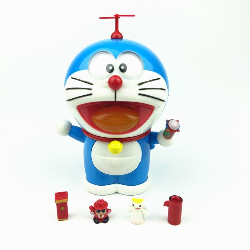 2019 nuevo Doraemon Jingle figura de acción de gato Linda expresión de sonrisa gato robot coche decoración infantil de juguetes regalo película cambio de cara muñeca