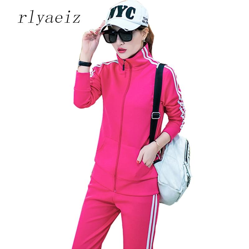 Женский спортивный костюм rlyaeez, толстовка на молнии с капюшоном и брюки, большие размеры 4XL, на весну и осень, Женский комплект 2 шт.