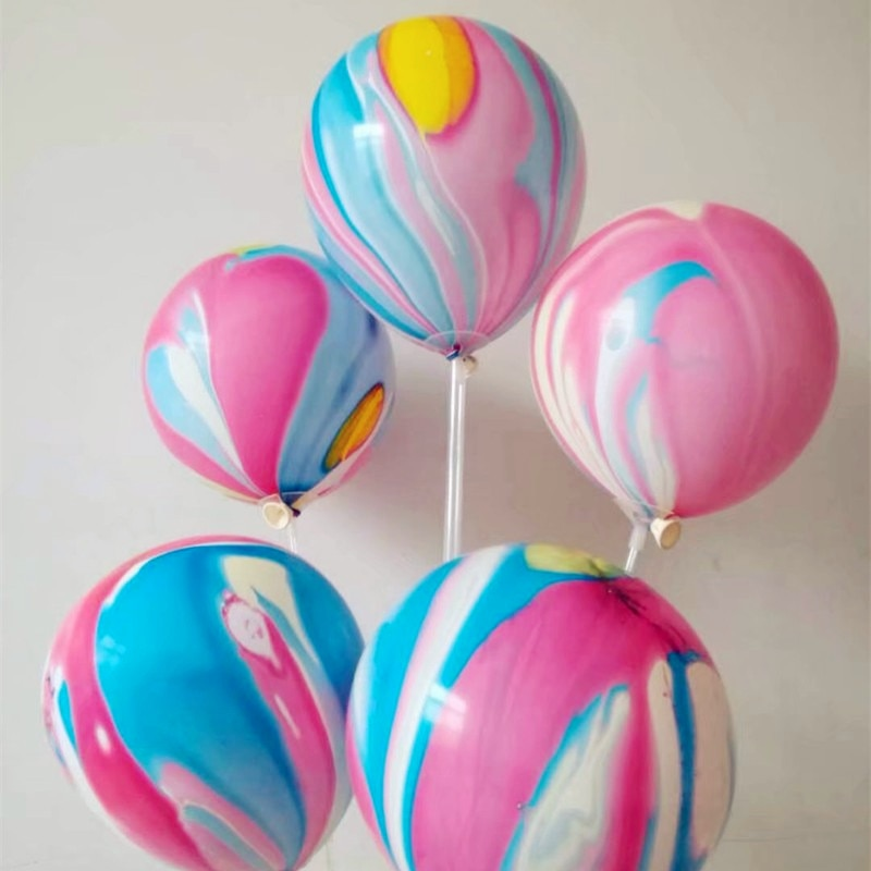 Color agate balloon 30pcs/lot12 inch round thick latex balloons wedding anniversary decor kids birthday party baby shower
