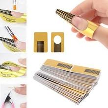 100pcs Women Nail Art Form Guide for Acrylic UV Gel Tips Extension Art Nail Tools