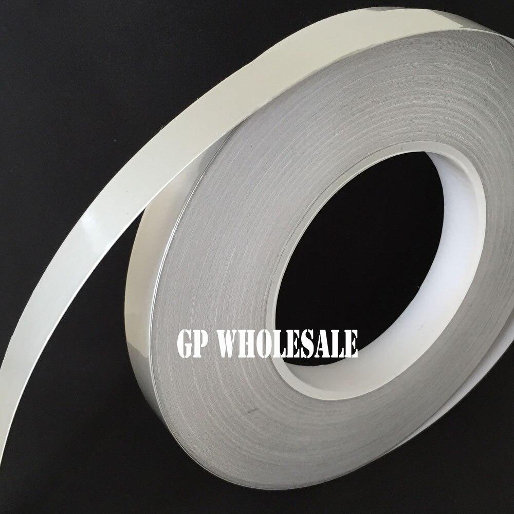 (10mm * 50 metros * 0.078mm) aislamiento de aparato caliente Mylar cinta de papel de aluminio Anti-rotura, junta de tubería, protección EMI