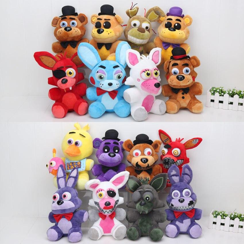Мягкие плюшевые игрушки Five Nights At Freddys 4 FNAF Freddy Fazbear, медведь лисица, Бонни, Чика, 25 см