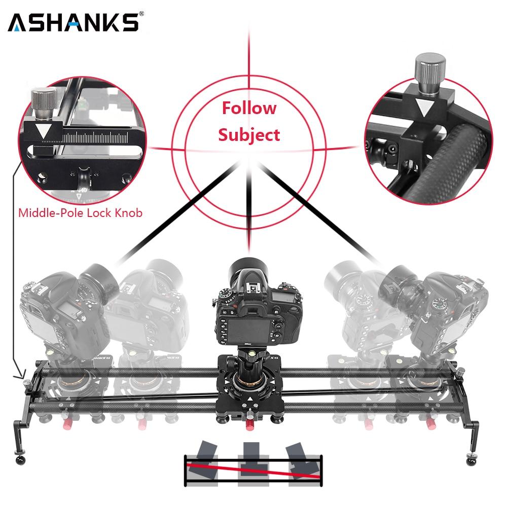 Слайдер для камеры ASHANKS S2, регулируемый угол обзора камеры из углеродного волокна, поддон для стабилизатора для цифровой зеркальной камеры, ...