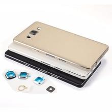 Samsung Galaxy A5 2015 A500 A500H A500F A500FU A500FN Konut metal pil arka kapak + Ses Güç Düğmesi + Kamera lens kapağı
