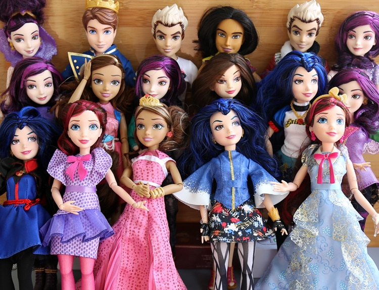 """Figuras de acción de los descendientes, muñecos originales de 11 """", juguete de maléfica, regalo para niñas"""