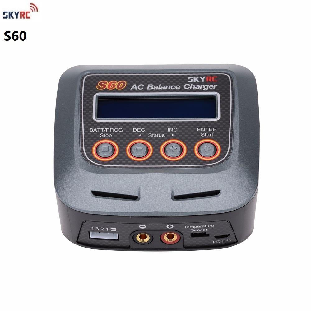 SKYRC S60 Inteligente AC Carregador de Equilíbrio/Descarregador com Vários Modos De Carregamento para LiHV Vida LiPo Lilon NiCd NiMh PB bateria
