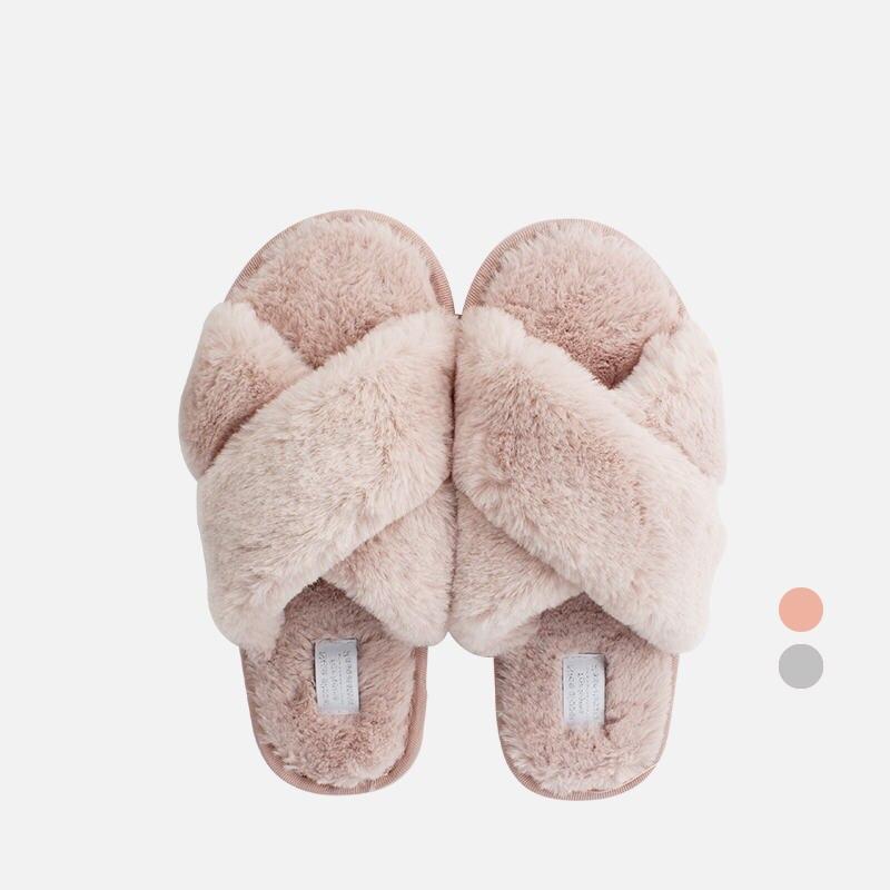 Zapatos de moda pantuflas de felpa suave para interior para el hogar, zapatillas de felpa para piso de arrastre de algodón, zapatillas de felpa de algodón antideslizantes para mujer