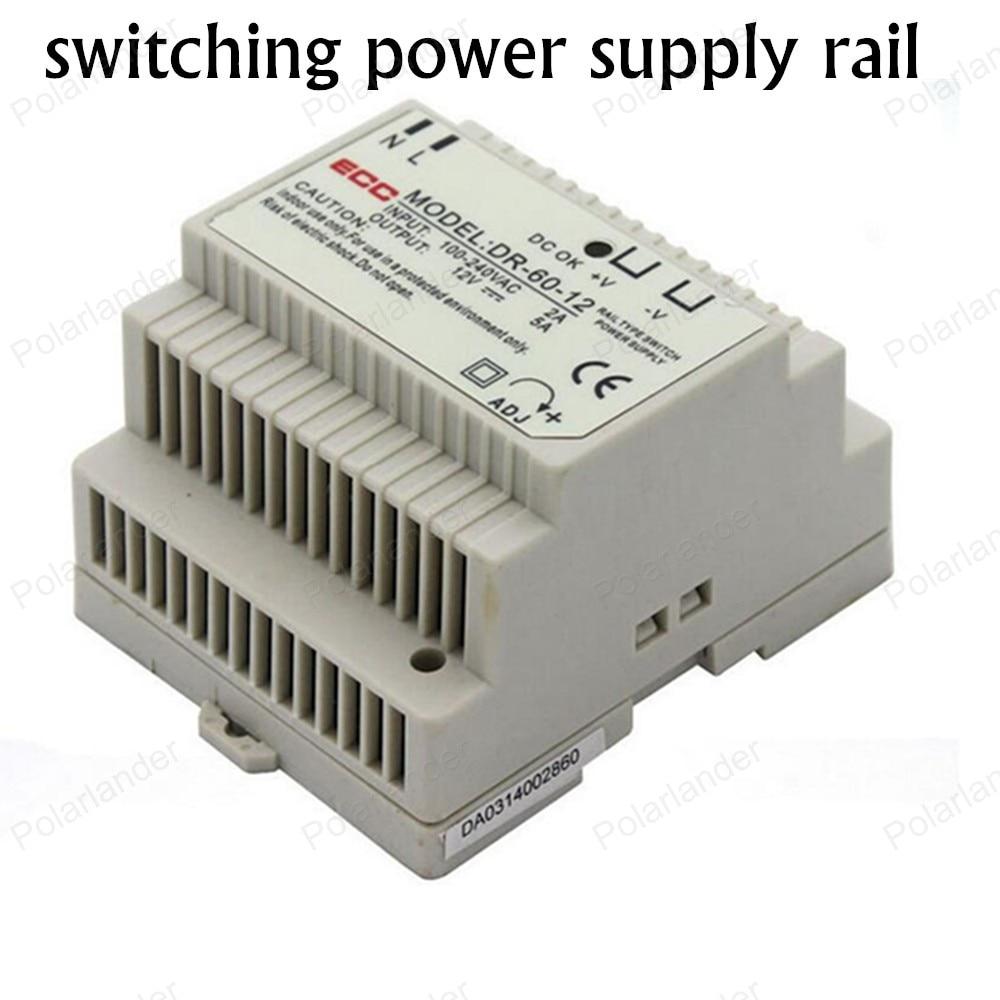 Zasilacz AC/DC 12 V 5A podwójne wyjście szynie zasilania jednostki ac dc konwerter zmiennej napięcia prądu stałego regulator transformator oświetlenia