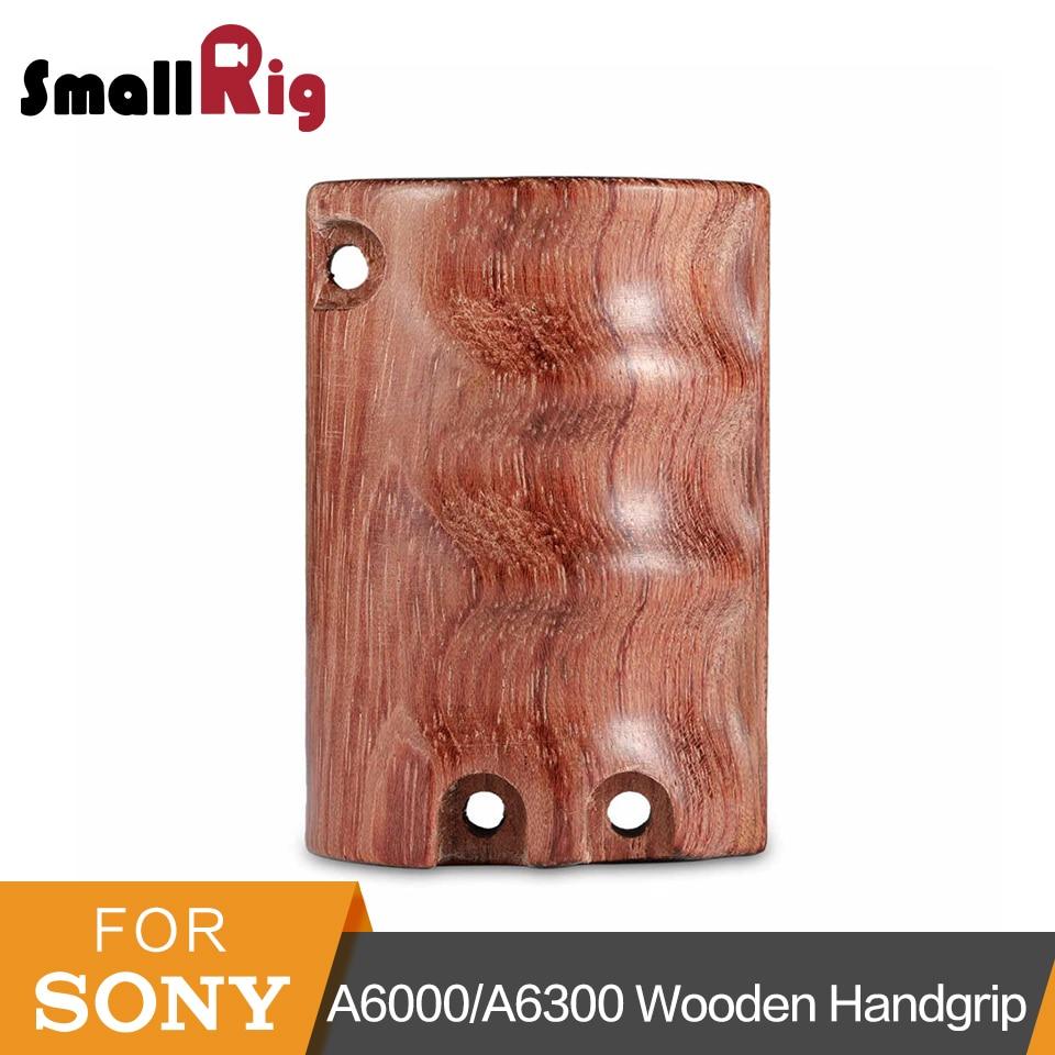 SmallRig дизайн деревянная рукоятка для Sony A6000/A6300/A6500 ILCE-6000/ILCE-6300/ILCE-6500 клетка камеры с винтами M4-1970