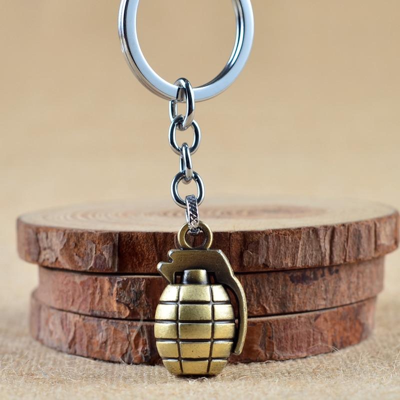 antitank grenade keychain key ring hand grenade Cross Fire key chain key holder creative portechiavi chaverio llaveros hombre