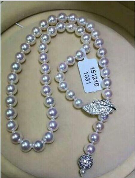 Collar de perla blanca redonda del Mar del Sur de 10-11mm AAA de un solo hilo de plata de 24 pulgadas (9,13)