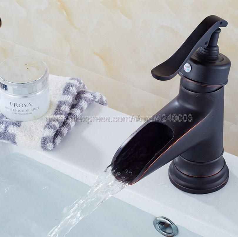 flg basin faucet for bathroom ceramic faucet cartridges automatic infrared sensor chrome cast cold hot bathroom sink faucet 8901 Black Oil Rubbed Bronze Waterfall Faucet Bathroom Faucet Bathroom Basin Faucet Mixer Tap Hot & Cold Sink faucet Khg080