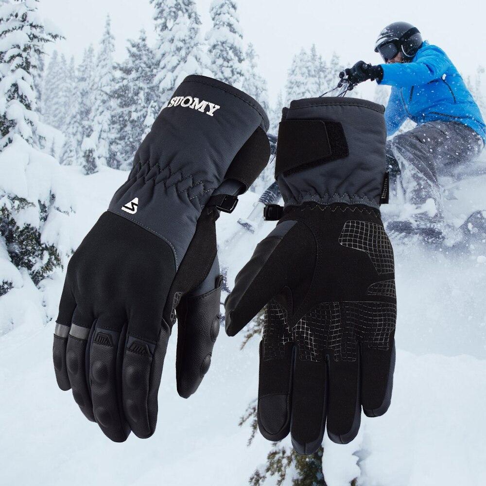 2018 nova suomy à prova dwaterproof água de esqui ao ar livre esporte de corrida moto luvas à prova vento inverno manter quente da motocicleta das mulheres dos homens reflexivo