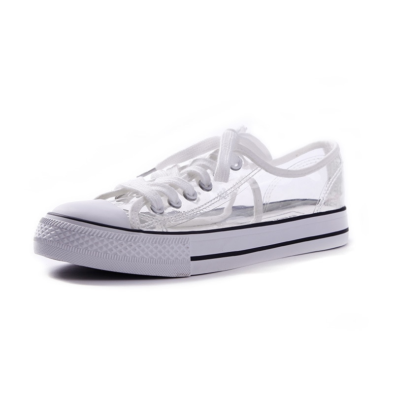 Zapatos casuales transparentes para mujer zapatos planos transpirables para mujer zapatos de punta redonda para caminar al aire libre para mujer zapatos de mujer 20