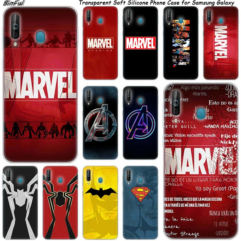 Hot Marvel Comics Logo Silicone Phone Case For Samsung Galaxy A80 A70 A60 A50 A40 A40S A30 A20E A2CORE M40 Note 10 Plus 9 8 5