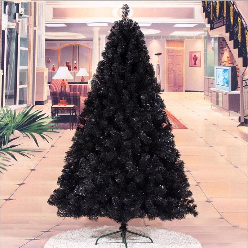 Árvore de Natal Presente de Natal Preta Decoração Presentes 1.8 m – 180cm