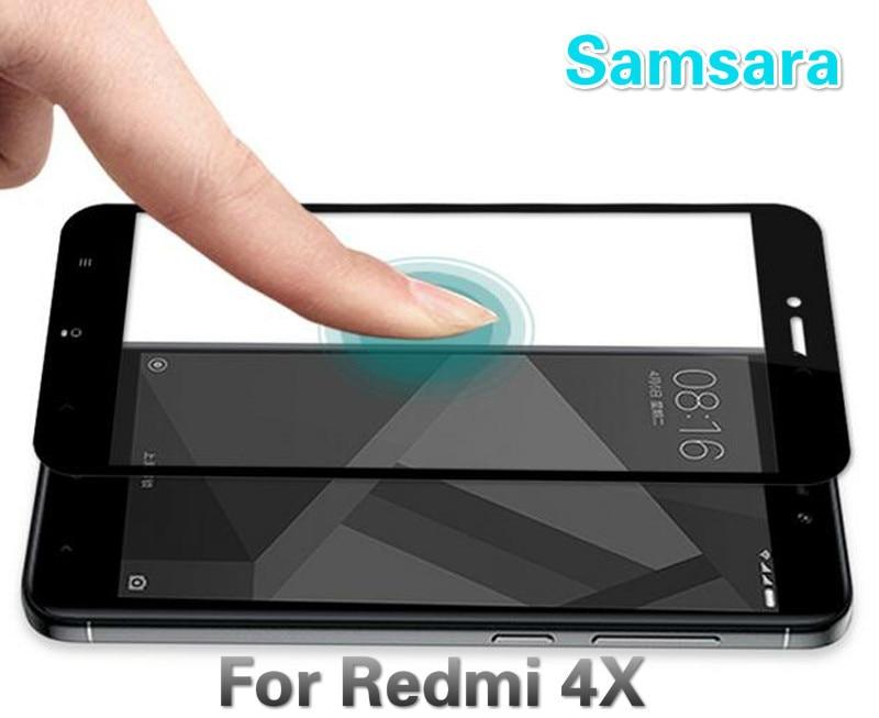 Samsara xiaomi redmi 4x glass tempered cover screen protector for redmi 4x glass film 2.5D protectio