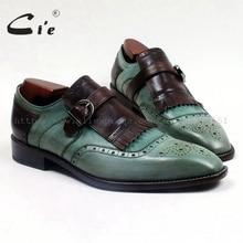 cie Free Shipping Custom Bespoke Handmade Adhesive genuine calf leather men's casual tassel slip-on color green brown shoe Loa95